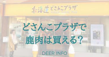 北海道どさんこプラザで鹿肉は買えるのか?行ってみた
